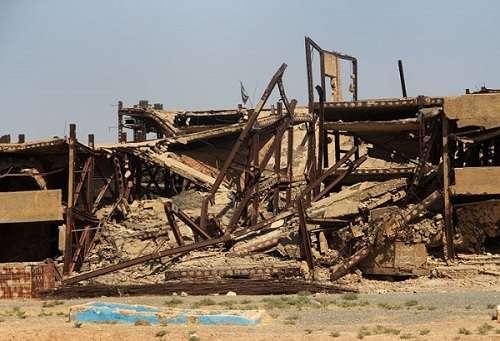 بیمارستان تخریب شده قصرشیرین